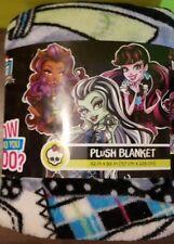 """Monster High Plush Blanket 62"""" x 90"""" Girls  New 2015"""