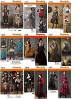 Simplicity Sewing Pattern Misses' Chic Costume Steampunk Victorian Bustiers
