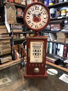 Texaco Route 66 Tin Toy Bowser Clock Repro