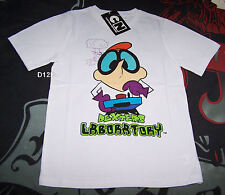 Dexter's Laboratory Boys White Printed Short Sleeve T Shirt Size 3 New *SALE*