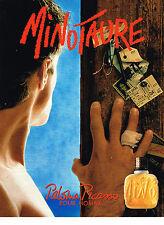 PUBLICITE ADVERTISING 0314  1993   PALOMA PICASSO  parfum  pour homme MINOTAURE