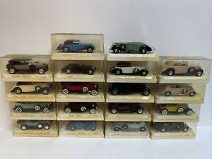 Lot 18 Solido Age d'or 1/43 metal en boite. Delage, Bugatti, Mercedes Etc...