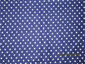 VTG 28X35 NAVY BLUE POLKA DOT COTTON FEEDSACK FABRIC QUILT CRAFT PROJECT SEWING