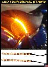 2x Amber Turn Signals Harley-Davidson FXCWC Rocker C Seat Back Strip Indicators
