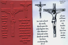 unmounted Religious rubber stamps Jesus hanging on Cross  4 images