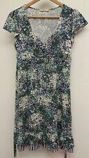 Summer Dress Size S Oasis Green  Floral <J4637
