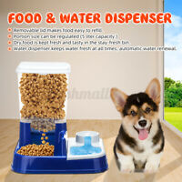 Pet Automatic Feeders Auto Water Food Dispenser Dog Cat Drinking Feeding