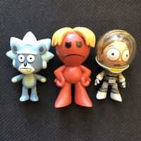 Funko Mystery Mini Rick And Morty Lot Of 3 Figures