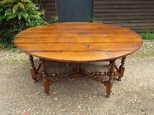Fantastic Large Reproduction Antique Style Double Gateleg Dining Table