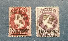 Saint Helena Stamps, Scott 28, 37 Used and Hinged