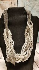 Rhinestone Crystal Faux Pearl Necklace Wedding Prom Evening Jewelry
