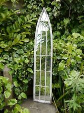 Large Decorative Gothic Arched Door Metal Framed Garden Wall Mirror Arch 120cm
