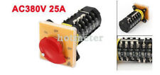 SZW25-6 Panel One Phase Rotary Selector Cam Changerover Switch AV380V 25A