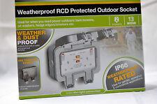Protected Outdoor Socket WP22RCD BG Weatherproof RCD 2 Sockets 13Amp IP66
