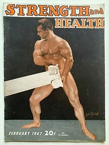 JOHN GRIMEK February 1947 STRENGTH & HEALTH Magazine