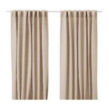 SIMPLE IKEA AINA Curtains, 1 pair, beige 145x250 cm
