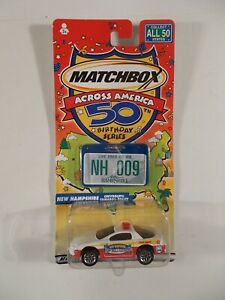 Matchbox Across America 50th Birthday #9 New Hampshire Chevy Camaro Police