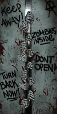 Door Cover- Zombies Inside Plastic Wall Mural Halloween Decoration Decor