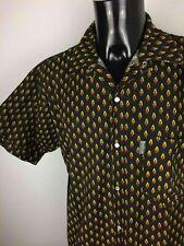 ATELIER PROVENCAL Chemise Shirt Pearl Nacre True Vintage 90s Made in France Noir
