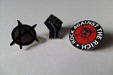 ANARCHO PUNK metal badge set class war crass anarchist