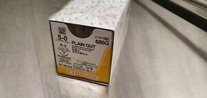 Ethicon Plain Gut Suture 686g 5-0 P-3 13mm 45cm (12)