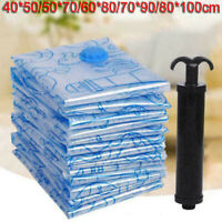 2*Strong Vacuum Storage Bags Compressed Saving Space Seal Bag Space Saver Vacume
