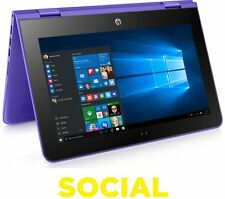 "HP Stream x360 11.6"" 2 in 1 32GB eMMC 2GB RAM Windows 10 Violet Purple"