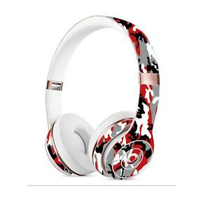 CAMO RED Skin for BEATS SOLO STUDIO 2 3 Wireless PRO Cover Decals Stickers Wrap