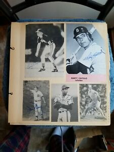 VINTAGE LOT OF (13) AUTOGRAPHED PHOTOS KALINE, TRAMMELL, GOODEN    GROBEE1957