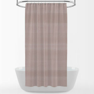Carolina Linens Shower Curtain in Farmhouse Red Traditional Ticking Stripe