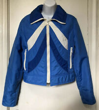 Topher Vintage Puffer Jacket 70s Women's Size XS-S Blue White