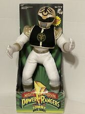 1994 Mighty Morphin Power Rangers White Ranger Tommy Plush Moveable Karate Arms