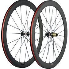 3K mate de carbono Ruedas de Bicicleta de carretera Remachador 50mm CARBON juego de Ruedas Rueda de Bicicleta