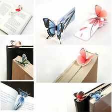 4 x Butterfly Shape Bookmark Book Markers Exquisite Wings Open Unique Gift