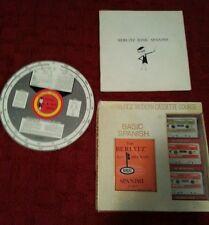 Basic Spanish Course on Cassette 1960 BERLITZ Vintage Set