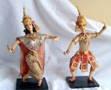 "Thailand Prince & Princess Dancers ""Bangkok Dolls"" Native Costume Vintage"