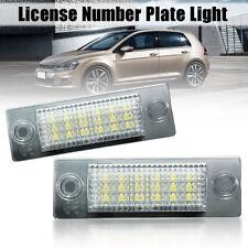 2X LED LAMPADE LUCI LUCE TARGA BIANCO PER VW CADDY T5 TRANSPORTER GOLF PASSAT