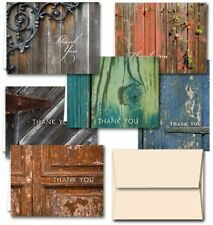 Rustic Thank You Note Cards - 36 Thank You Cards - 6 Designs - Blank Cards -