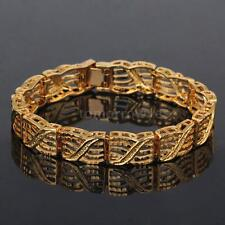 Yellow Gold Plated Chain/Link No Stone Costume Bracelets