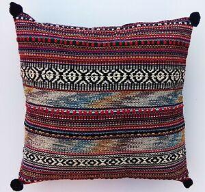 Indian Handmade Traditional Hand Loomed Pillow Bohemian Cushion Cover 40cmx40cm