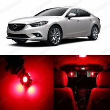 15 x Ultra Red LED Interior Light Package For Mazda Mazda 6 Mazda6 2014 Up