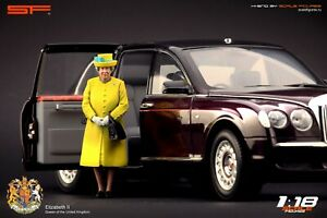1:18 Queen Elizabeth 2 yellow  VERY RARE!!! figurine NO CARS !! by Scale Figures