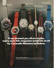 1972 Bulova PRINT AD Caravelle Watches Great Decor or Documenting Vintage ad