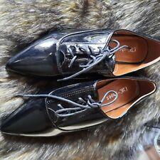 NEW Black Patent Brogue Shoes Size 5.5