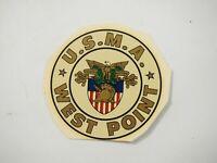 Vintage U.S.M.A.West Point Window Decal transfer