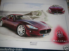 MASERATI GRANTURISMO 4.7L V8 2009 PRINT PAINTING ARTWORK CHRISTOPHER DUGAN