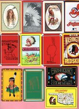 12 Single Swap Playing Cards Indians Native Americans On Ads & Souvenirs