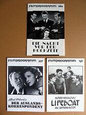 3 RETRO FILMPROGRAMME * KONVOLUT - INTERNATIONAL - SAMMLUNG - Wiedleroither