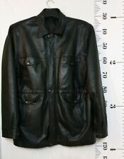 """Black 100% Leather Coat 