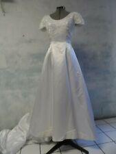 DEMETRIOS beaded EMPRESS bodice WEDDING DRESS sz 8